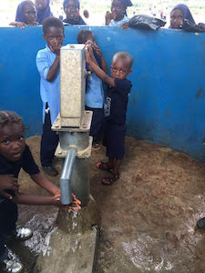 Children in Sierra Leone Excited for Their New Water Well