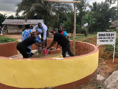 Lamin and Kadie Bah Foundation Volunteering in 2019 by Installing Water Wells in Sierra Leona, Africa
